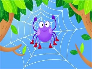 거미가 줄을 타고 올라갑니다