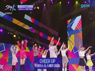 [JTBC 'Stage K'] 'TWICE (트와이스) & 스웨덴 대표팀'의 'CHEER UP' 공연 클립