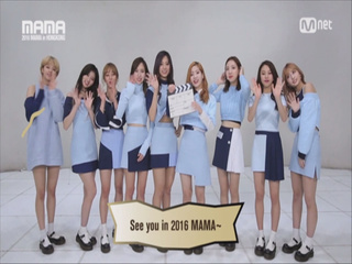 [2016 MAMA] Star Countdown D-3 by TWICE