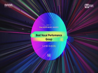 [2017 MAMA] Best Vocal Performance Group Nominees_2017마마