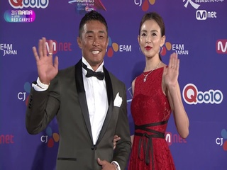 [2017 MAMA in Japan] Red Carpet with Yano Shiho(야노시호) & Choo Sung Hoon(추성훈)_2017마마