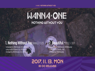 [Preview] Wanna One 1-1=0 (NOTHING WITHOUT YOU) 미리듣기 & 트랙리스트
