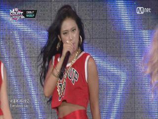와썹 나다 과거 엠카 무대 ′Wa$$up′ (언프리티 랩스타3 참가자 미리보기)