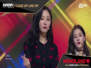 [2018 MAMA] Close Up! Line Up! #MOMOLAND
