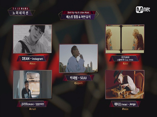 [2018 MAMA] Best Band Performance/HipHop & Urban Music Nominees