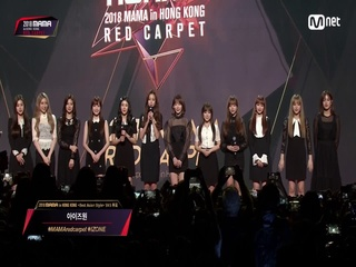 Red Carpet with IZ*ONE(아이즈원)│2018 MAMA in HONG KONG
