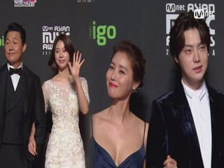 Red Carpet with Park Sung Woong(박성웅) & Seo Eun Su(서은수) & Ahn Jae Hyeon(안재현) & Kim Sung Ryoung(김성령)│2018 MAMA in HONG KONG