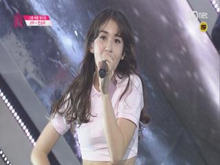 [직캠]일대일아이컨택 |전소미 - 2조 소녀시대 ♬ 다시 만난 세계