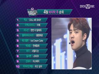 4월 마지막 주 TOP10은 과연 누구?!