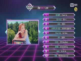 8월 넷째 주 TOP10은 누구?