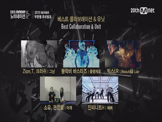 [2015 MAMA] Best Band/Rap/Collaboration&Unit Performance Nominees