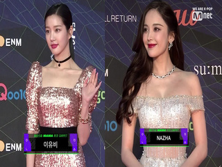 [2019 MAMA] Red Carpet with Lee Yu bi(이유비) / Nazha(나자)