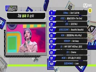 3월 둘째 주 TOP10은 누구?