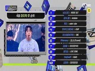 4월 마지막 주 TOP10은 누구?