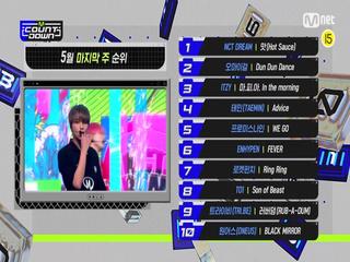 5월 넷째 주 TOP10은 누구?