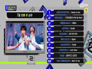 7월 첫째 주 TOP10은 누구?