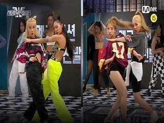 [3회/비교캠] 〈계급 미션〉 메인 댄서 선발전 l 서브 계급 (여진&지효 vs 모아나&엠마)