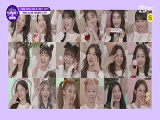 [Girls Planet 999] 18명의 참가자들! '응답해줘 OVER' @9IRLS NI9GH A9IT