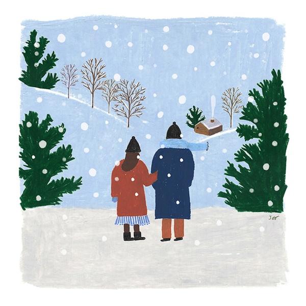 겨울이다,설렌다,행복하다,로 표현될 노래